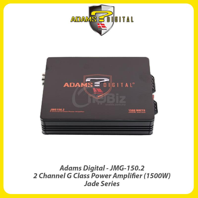 Adams Digital 2 Channel G-Class Amp (1500w) Jade Series AD-JMG-150.2