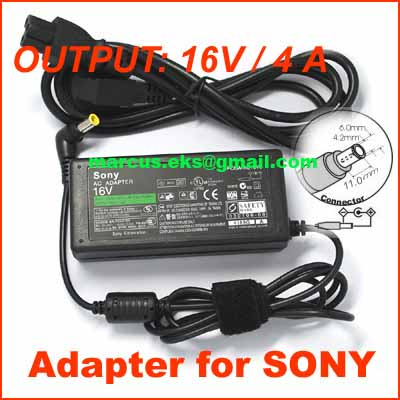Adapter for SONY VAIO 16V 4A 505 V505 VX88 C1F GR150K SRX77 AC Adapter