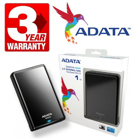 ADATA DashDrive HV620 Portable External Hard Drive 1TB USB 3.0