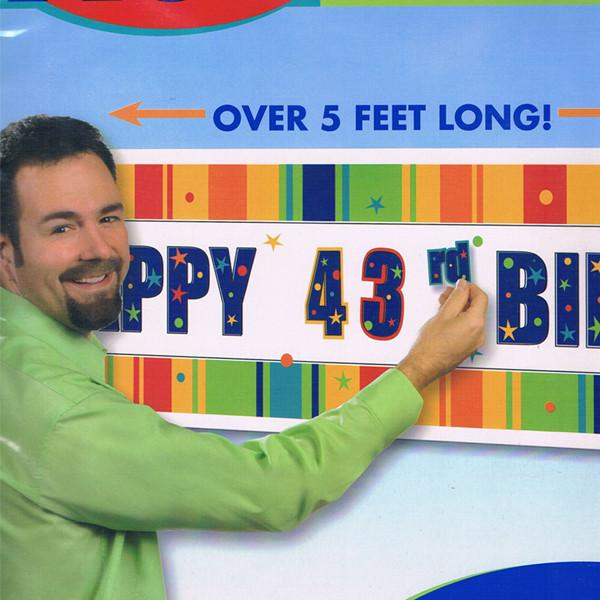 ADD AN AGE Happy Birthday Customizable Giant Banner Over 5 Feet Long!