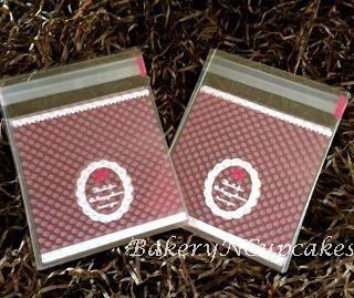 Self Adhesive Cookies Bag (Red Polkadot)