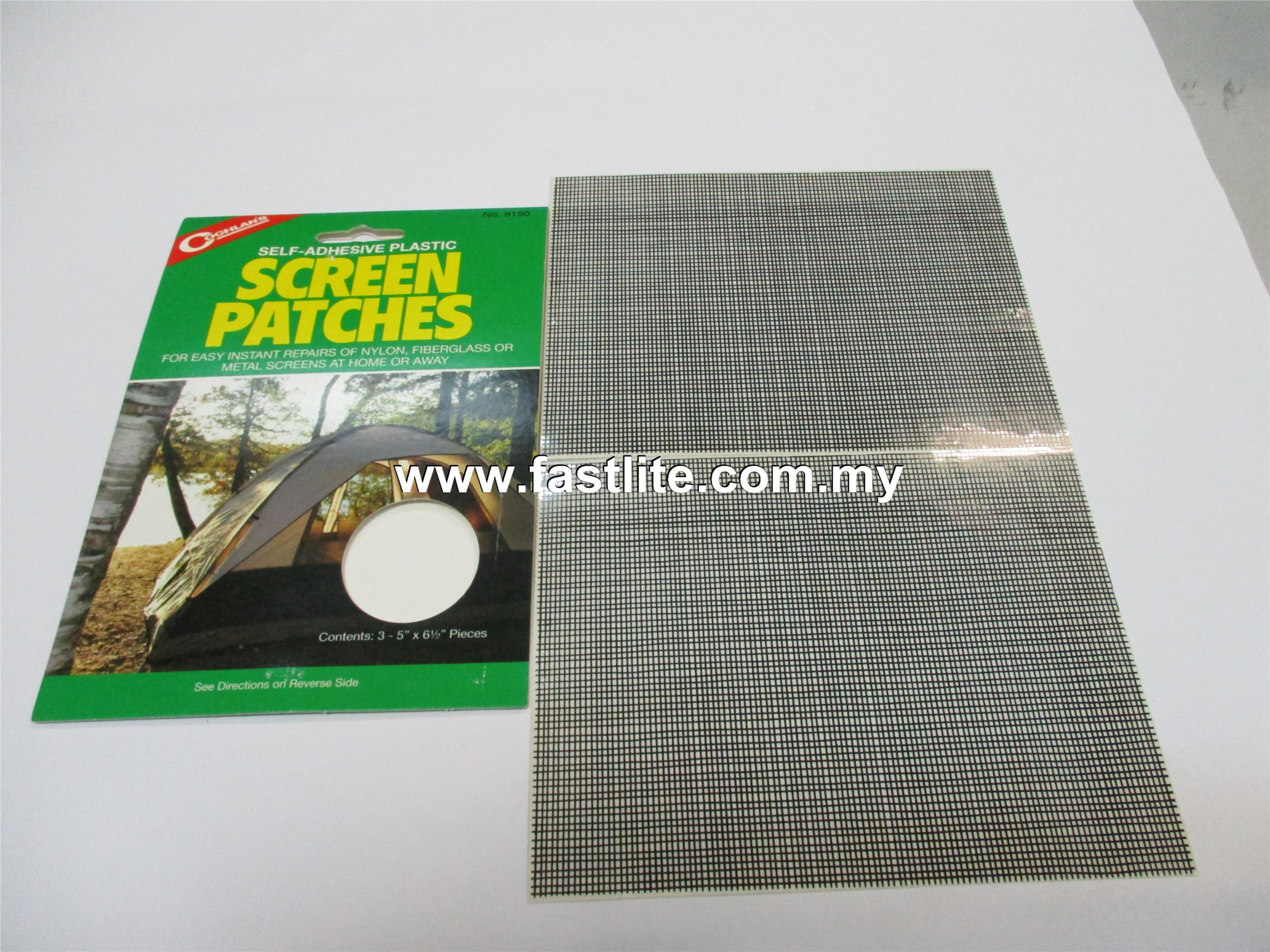 Self-Adhesive Plastic Screen Patches (for Instant Repair of Screens)