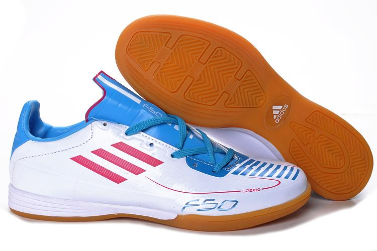 Adidas F50 AdiZero 2011 White/Blue Mens Indoor Futsal Shoes ...