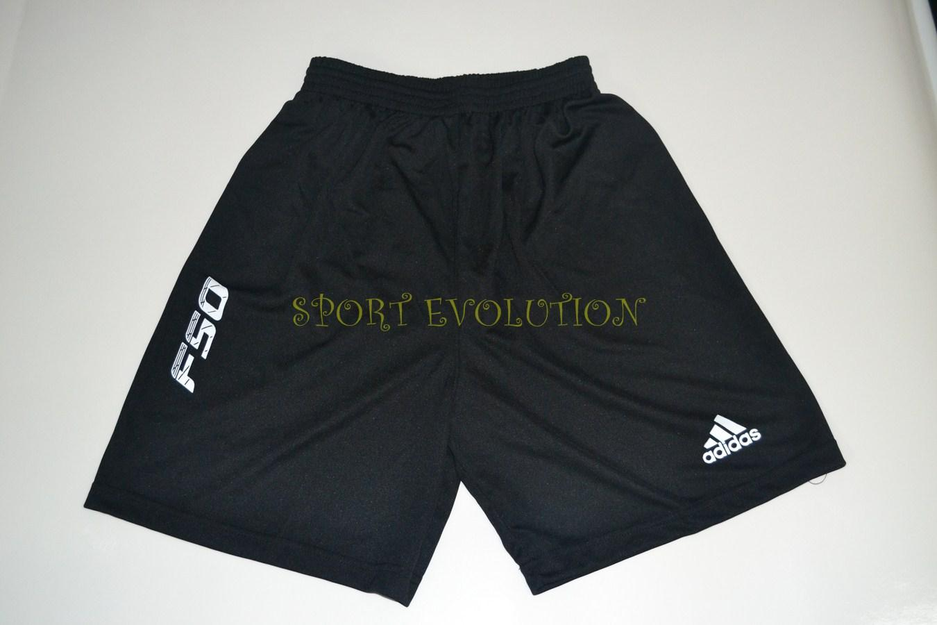 ADIDAS F50 SHORT-BLACK+WHITE-AAA