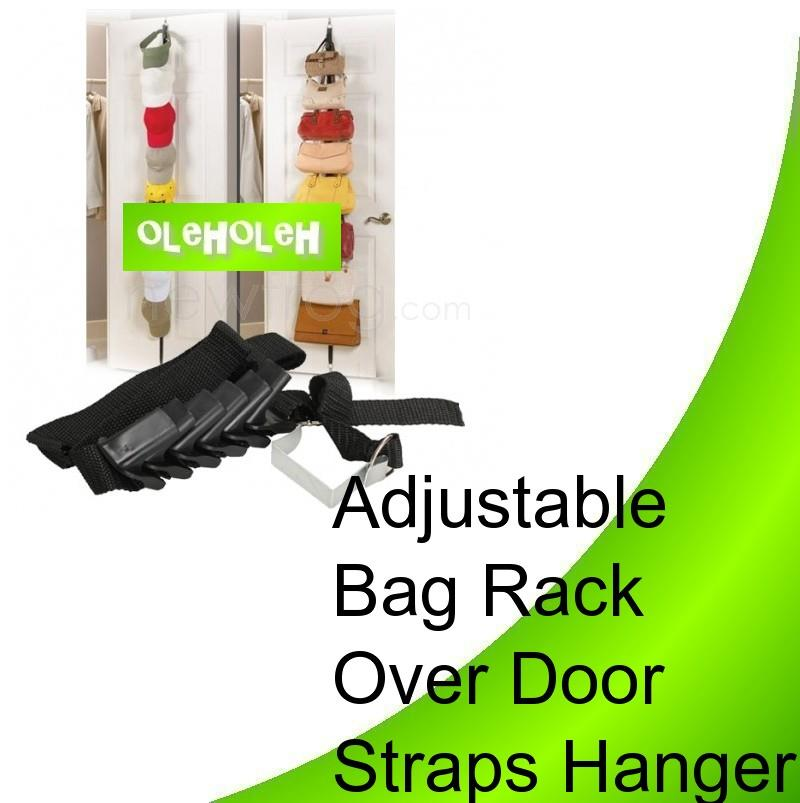 Adjustable Bag Rack Turn Doors Into Storage Saving Space