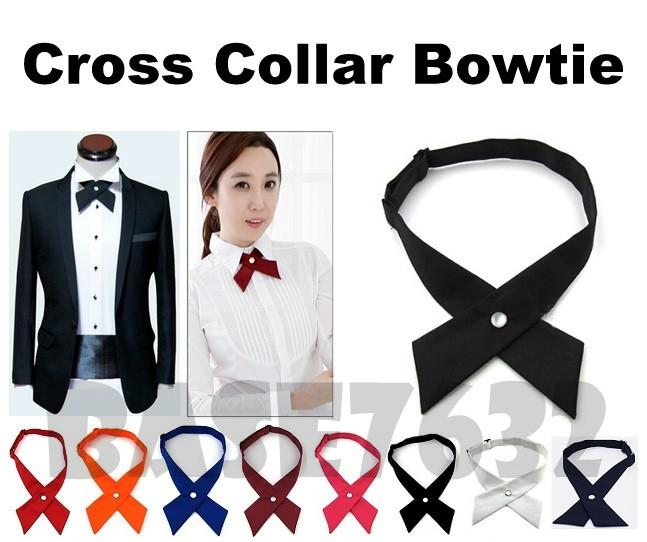 Adjustable  Bow Tie  Unisex Adult Cross Collar Bowtie Necktie