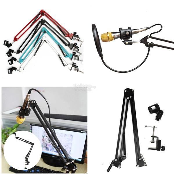 Adjustable Microphone Mic Suspension Boom Scissor Arm Support Stand Ho