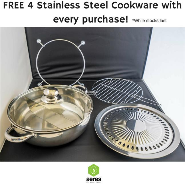 AERES EZ DOUBLE COOKER (INDUCTION & INFRARED )