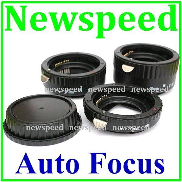New AF Auto Focus Macro Extension Tube Set for Canon DSLR Camera