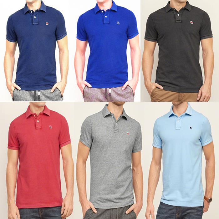 AF POLO Men Summer Short Sleeves T-shirt Classic Simple LOGO