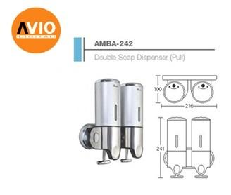 AIMER MALAYSIA AMBA-242 DOUBLE SHAMPOO AND SOAP DISPENSER  (PULL)