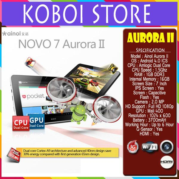 Ainol Novo 7 Aurora II Dual Core 16GB IPS Screen ICS