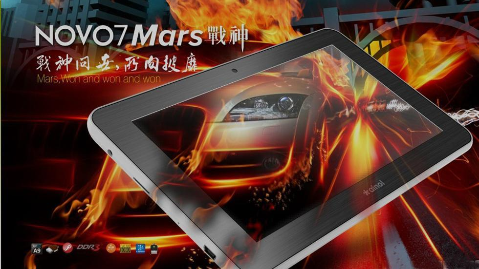 Ainol Novo 7 Mars � 7 inch HD (1024*600) Android 4.0 Tablet PC with 1G..