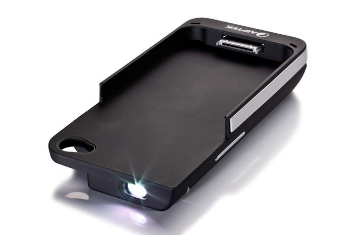 Aiptek mobilecinema iphone projector i15 screen max 60 for Best iphone projector