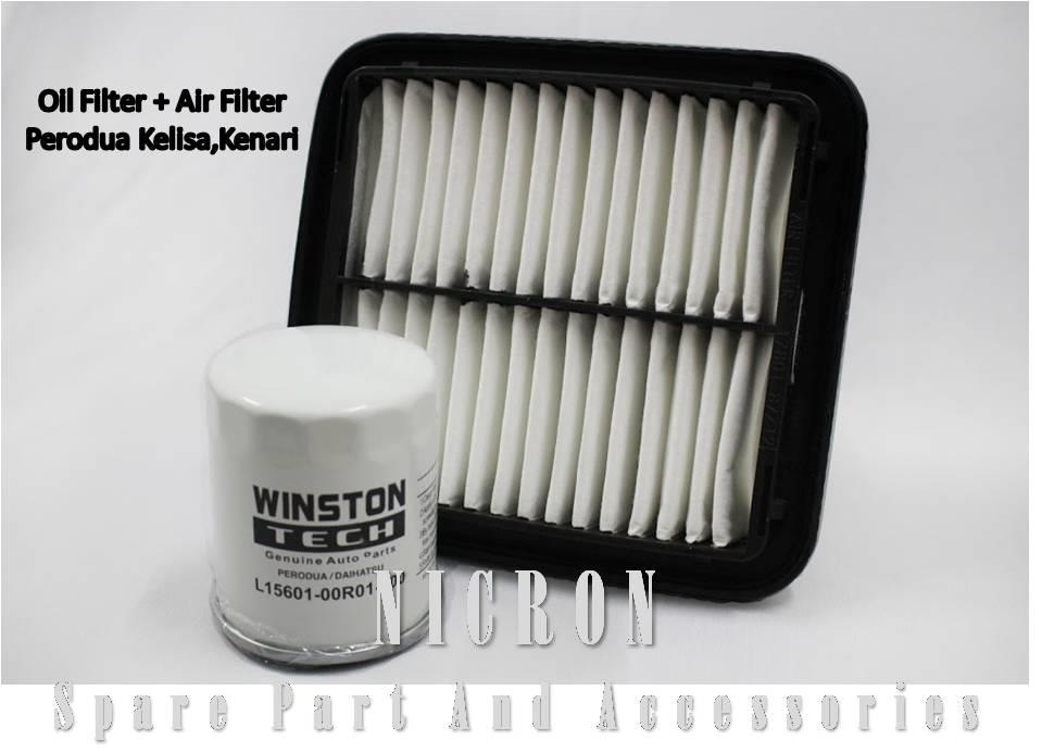 Air Filter + Oil filter (1set) - Perodua Kelisa , Kenari