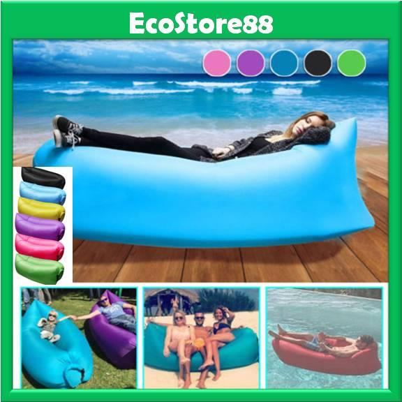 Air Lazy Bag Sofa Inflatable Sleeping Camping Beach Bed Portable