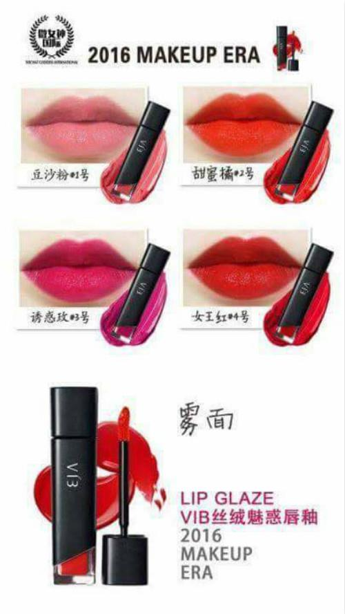 Aisan Top Team VIB Lip Glaze (Glamours Rose Red no.3)