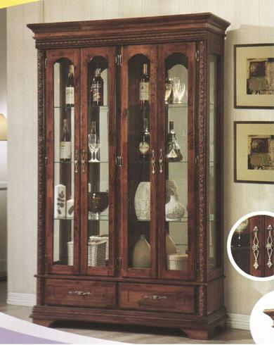 AK886 Antique Display Cabinet