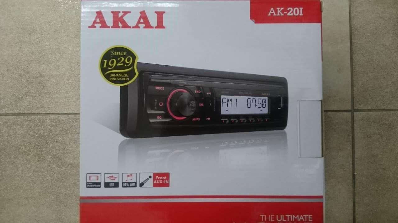 AKAI AK-201 FM/AM/USB SINGLE DIN PLAYER