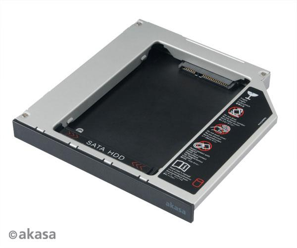 AKASA OPTICAL DRIVE TRAY FOR SSD/HDD (AK-OA2SSA-BK)