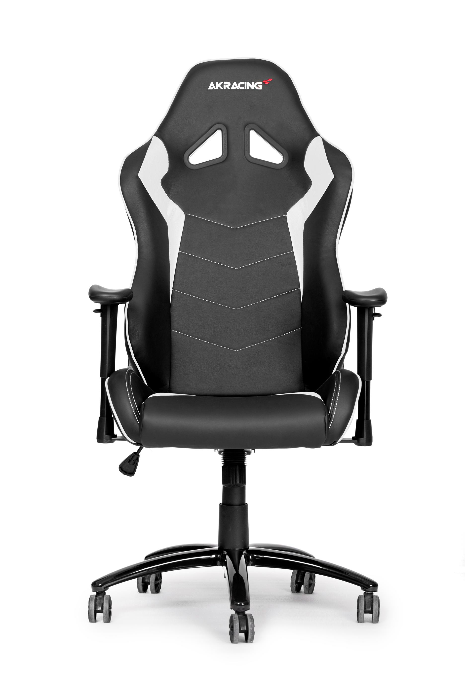 AKRACING OCTANE SERIES GAMING CHAIR BLACK+WHITE PU LEATHER INSTOCK