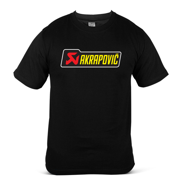 AKRAPOVIC Motorcycle Motor Bike Exhaust Muffler 100% Cotton T-Shirt