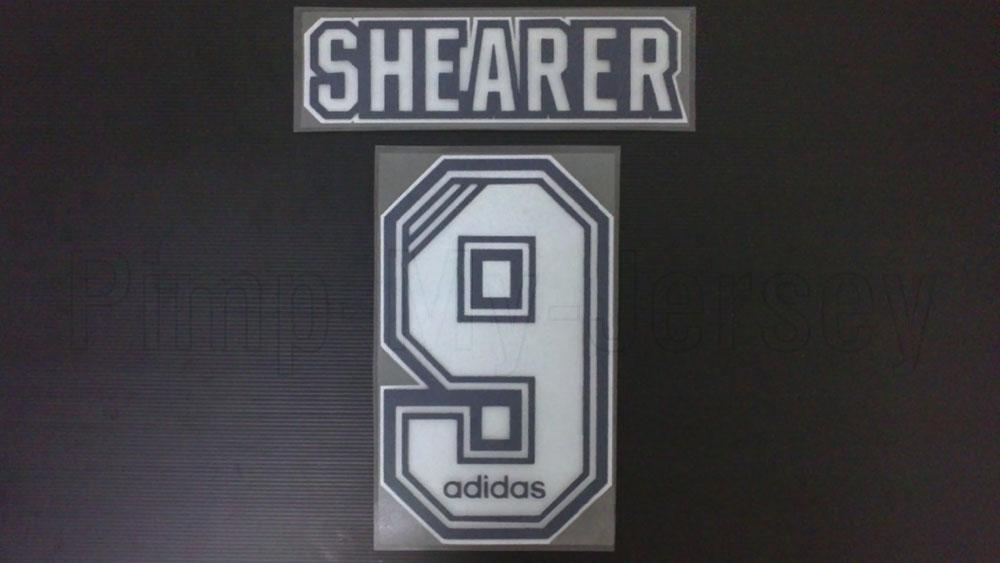 ALAN SHEARER #9 NEWCASTLE UNITED HOME 1996-1997 NAME SET