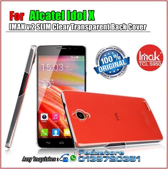 Alcatel Idol X - IMAK v.2 SLIM Clear Transparent Back Cover