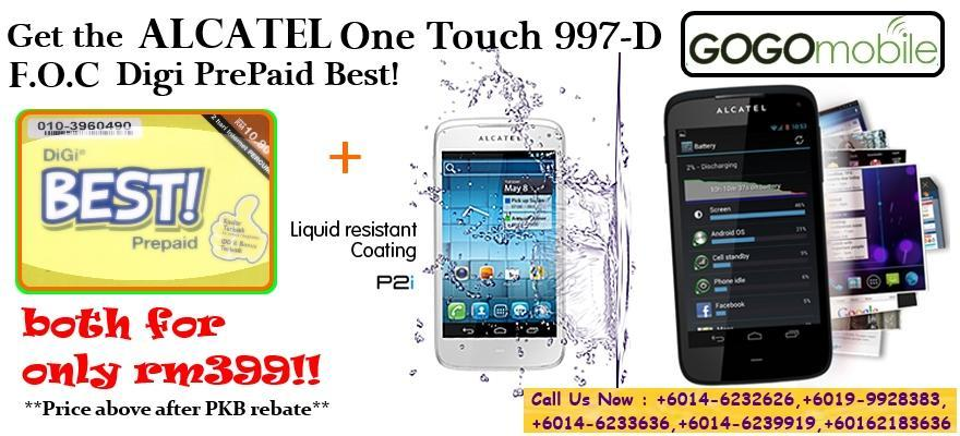 Alcatel One Touch 997D Brand New Original Rm399Only !