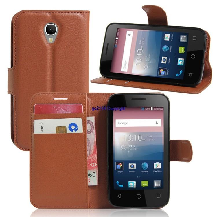 Alcatel One Touch Flash Mini 4031D PU Leather Flip Case Cover Casing