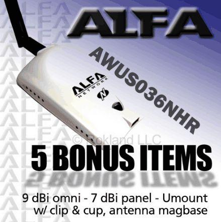 ALFA COMBO  AWUS036NHR 2000mW +7 & 9 dBi+Magbase+Y Cable