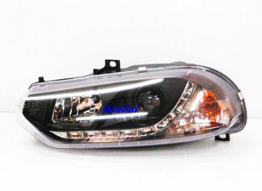 ALFA Romeo 156 Projector Head Lamp Black Housing [DRL R8 Look]