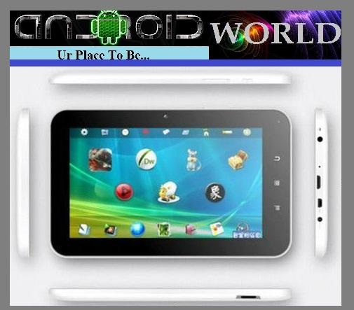 AllWinner A13 Q89 7inch  8GB 1.2GHZ 512MB ROM  ANDROID 4 tablet PC