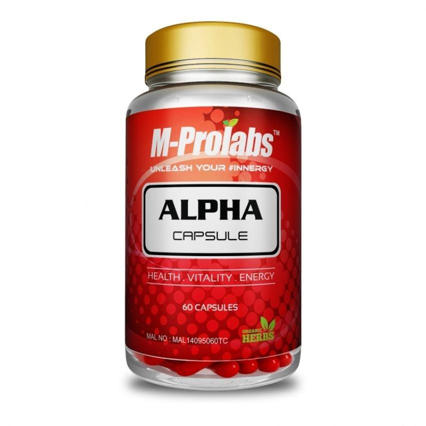 Alpha Capsule by M-prolabs ~ 100% Herbs Testosterone & Energy Booster