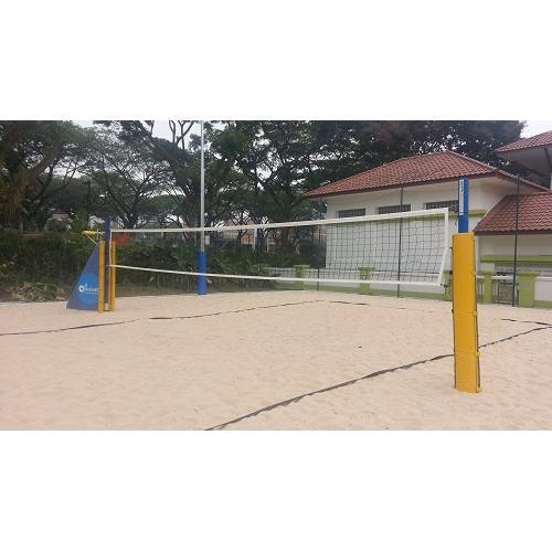 Aluminium Beach Volleyball Post Ground Socket System High Quality