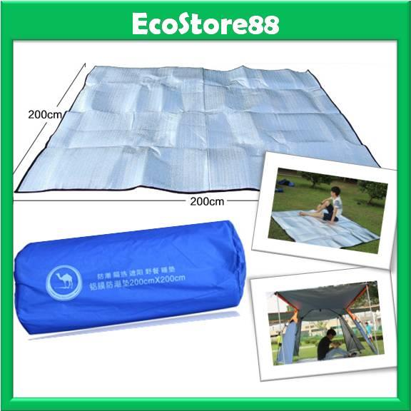 Aluminium Foil Mat Outdoor Picnic Cushion Pad Waterproof 200cm x 200cm