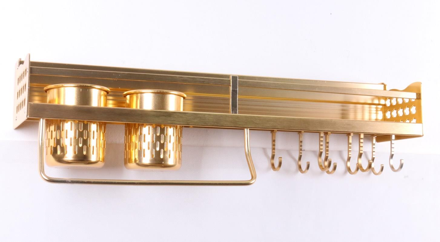 Aluminium Kitchen Storage Rack Knife Rest - 58cm - Gold (KTN0009GD)