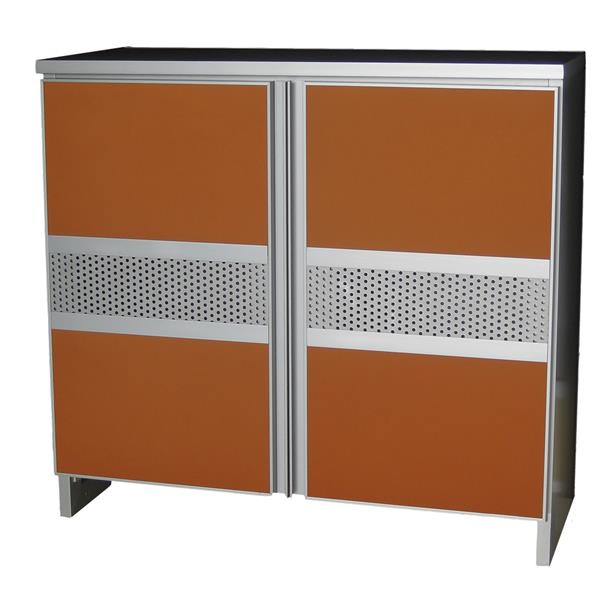 Aluminium Shoe Cabinet SC777233 Orange