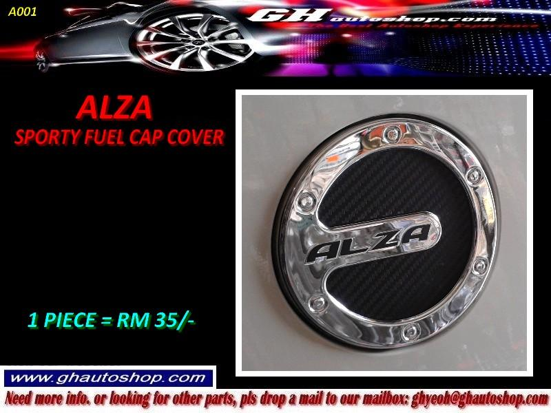 ALZA / NEW ALZA SPORTY CHROME FUEL CAP COVER A001