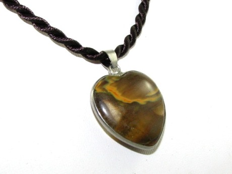 Amber Heart Pendant for Love Luck