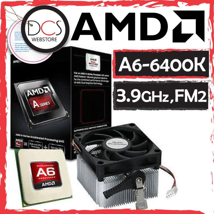 AMD A6 6400K 3.9GHz Dual-Core Processor 4.1GHz Max Turbo Black Edition
