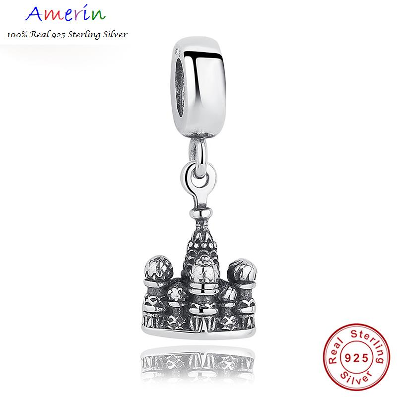 AMERIN 100% Real 925 Sterling Silver Charm Fit Bracelet Sts