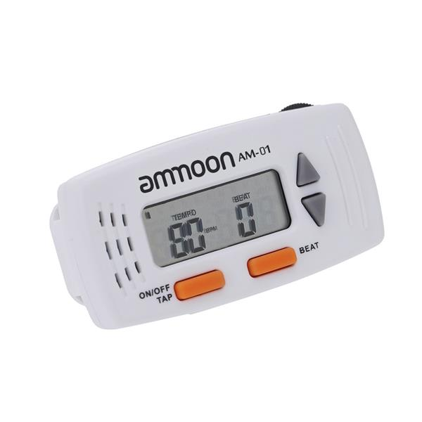 ammoon AM-01 Clip-on 2-in-1 Mini Electronic Metronome & Clock