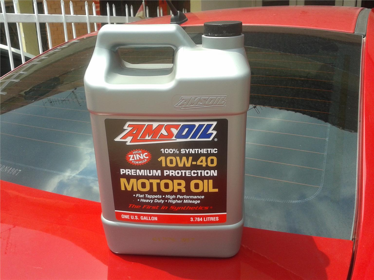 Amsoil Fully Synthetic 10w 40 High Zinc Engine Oil