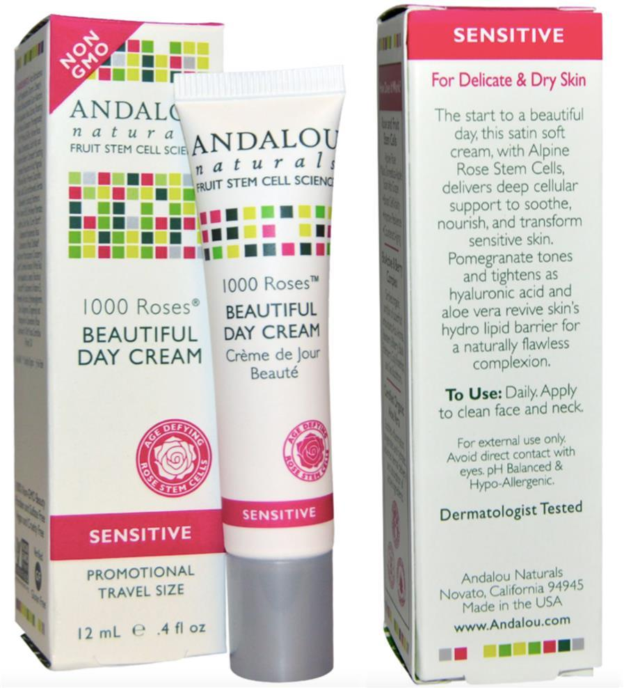 Andalou 1000 Roses, Beautiful Day Cream, for sensitive skin (USA)