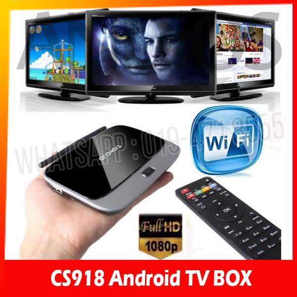 Android 4.4.2 CS918 2G 8G TV Box Quad Core XBMC IPTV Media Player Mi