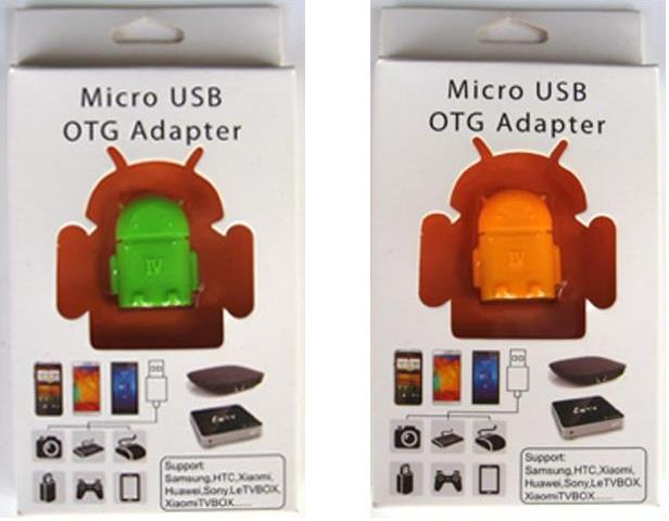Android Robot Micro USB OTG Adapter