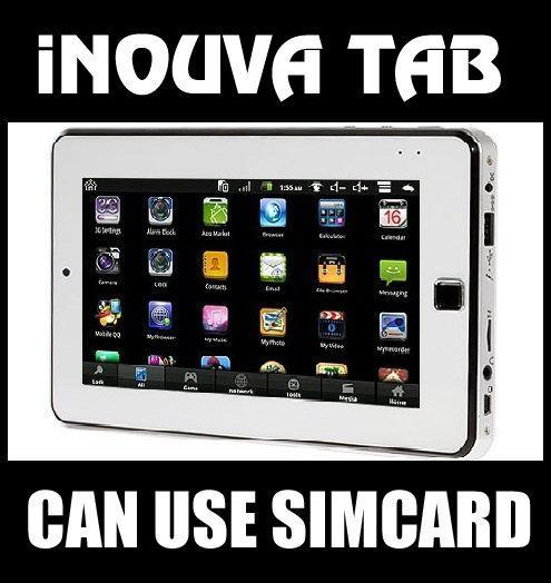 ANDROID TABLET PC WHITE iNOUVA CALL SMS LIKE GALAXY TAB & IPAD PHONE ICS