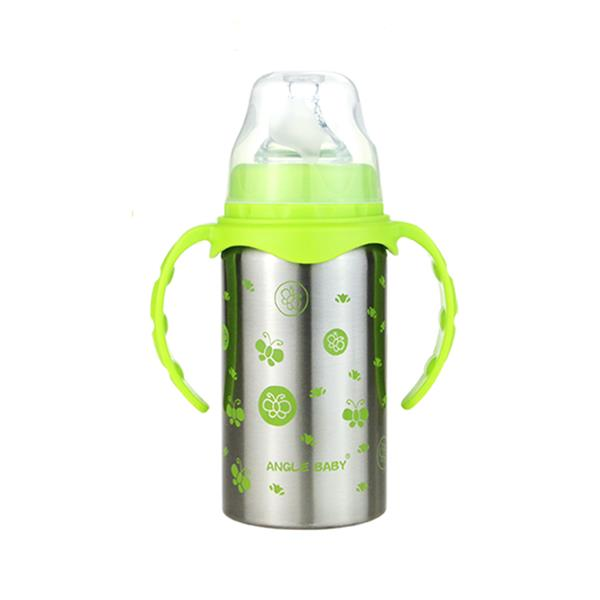 Angel Baby Stainless Steel Baby Thermal Bottle 220ml (Green)