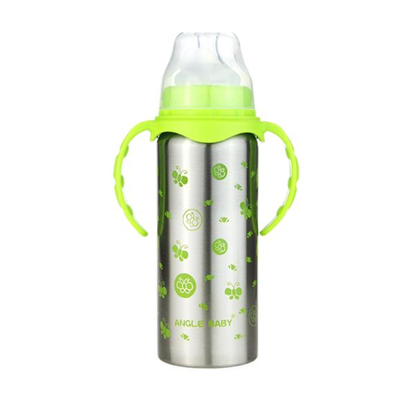 Angel Baby Stainless Steel Baby Thermal Bottle 300ml (Green)